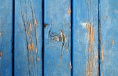 Weathered Blue Boards With Knot poster