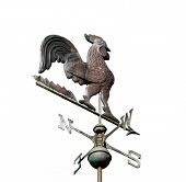 Weather Vane Isolated On White poster