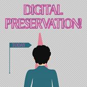 Text Sign Showing Digital Preservation. Conceptual Photo Ensuring Access To Digital Information When poster