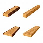 Vector Illustration Of Signboard  And Wood Sign. Collection Of Signboard  And Wooden Stock Symbol Fo poster