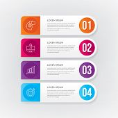 Info-graphic Template, Web Design, Work-flow Layout. Vector Info-graphic Template poster