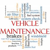 foto of wiper  - Vehicle Maintenance Word Cloud Concept with great terms such as wipers oil change brakes tires lights coolant and more - JPG