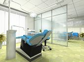 picture of medical office  - Interior of the modern stomatologic cabinet 3D - JPG