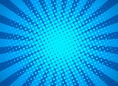 Retro Pop Art Background With Halftone Dots And Starburst Rays. Banner For Comic Book Superhero. Fla poster