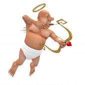 stock photo of droopy  - Smoking Cupid - JPG