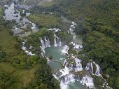 Ban Gioc Waterfall Or Detian Waterfall Is A Collective Name For Two Waterfalls In Border Cao Bang, V poster