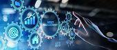 Asset Management Business Technology Internet Concept Button On Virtual Screen. poster