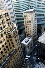 image of nyse  - Skyscrapers of Manhattan Financial district with NYSE New York - JPG