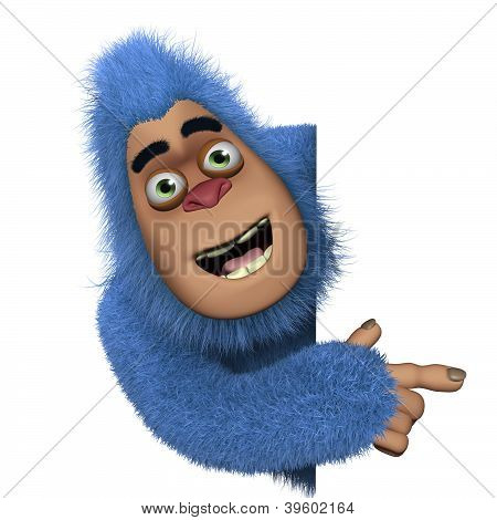 Cute Blue Bigfoot