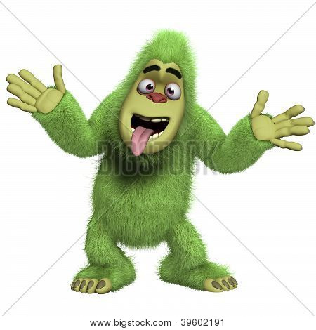 Crazy Green Yeti
