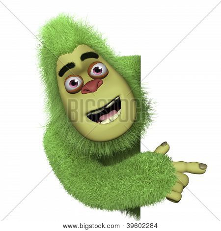 Cute Green Bigfoot