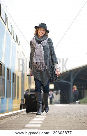 Travel Woman Taking A Trip