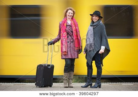 Friends And Speeding Train
