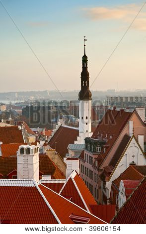 The View From The Top Of The Old Tallinn