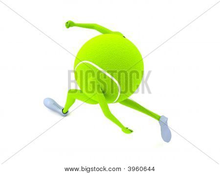 Three Dimensional Tennis Ball With Hands And Legs
