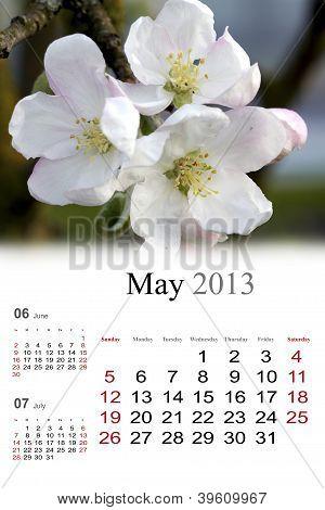 2013 Calendar. May