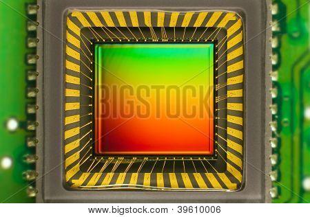 Sensor CCD em um cartão