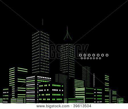 Noite cidade moderna vetor abstrato
