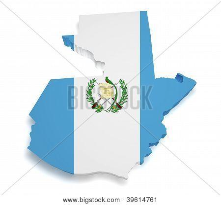Guatemala Map 3D Shape
