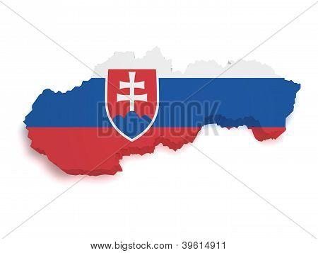 Eslovaquia mapa 3D forma