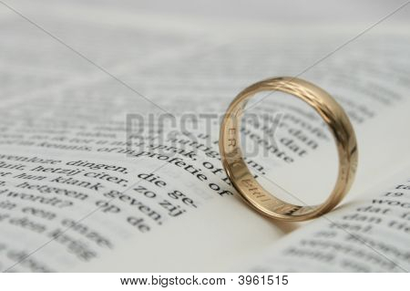 Wedding On Holy Bible