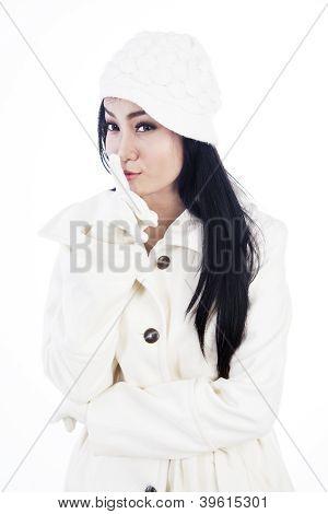 Fashionable Woman Keeps A Secret
