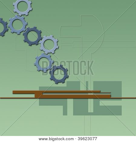 Abstract Color Background With Gears