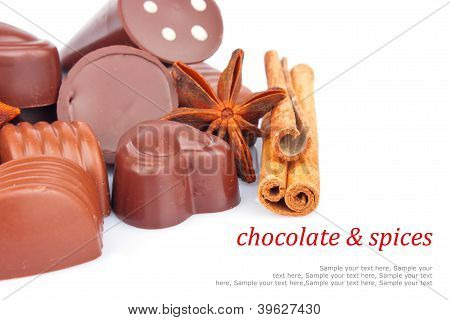 Chocolate Sweets And Spice & Text