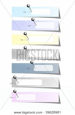 Colorful note paper