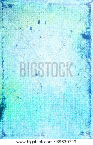 Elegant Vintage Border Frame: Abstract Textured Background With Blue And White Patterns