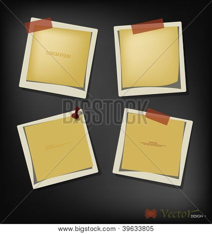 Collection of paper text bubbles, ready for your message. Vector illustration.