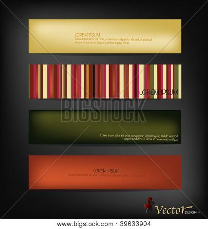 Vintage papers, ready for your message. Vector illustration.