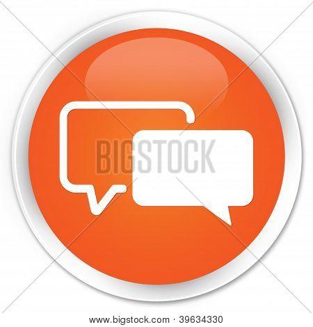 Testimonials Icon Orange Button