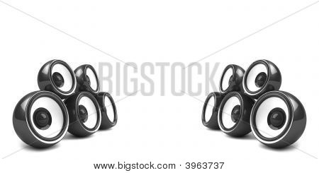 Black Stylish Stereo System