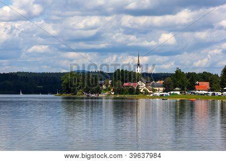 Frymburk near Lipno Lake, Czech Republic.
