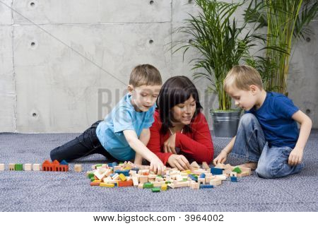 Family Fun With Wooden Blocks