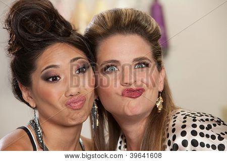 Ladies Making Faces