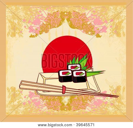 Template Of Traditional Japanese Food Menu