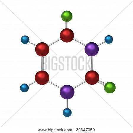 Molecule of uracil
