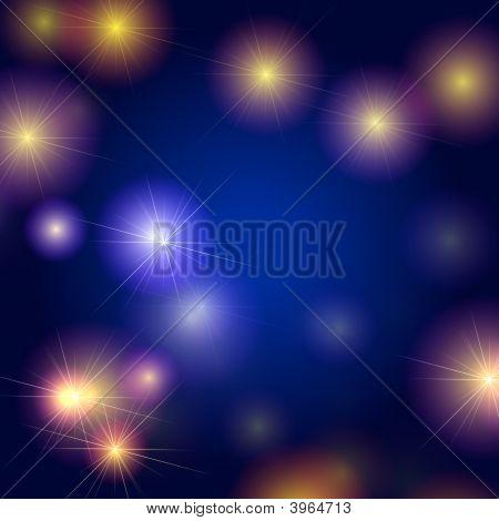Sterne Hintergrund in blau