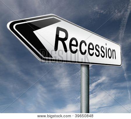 recessão crise bancária e estoque acidente banco recessão mercado acidente seta