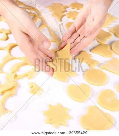 Baking Cookies At Home For Christmas