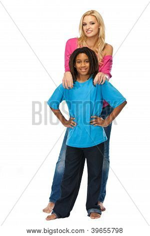 Blonde Woman With Young Rasta Boy