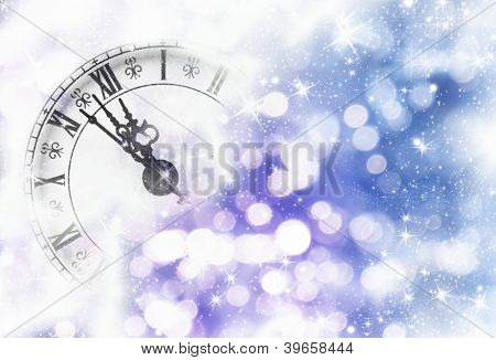 Nearly Twelve O'clock Midnight, New Year Concept.