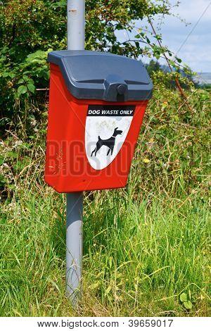 Dog waste bag dispenser in public area