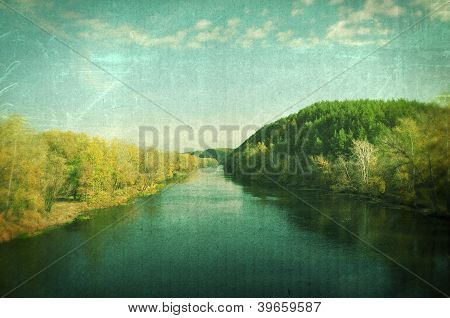 Grunge Autumn Landscape