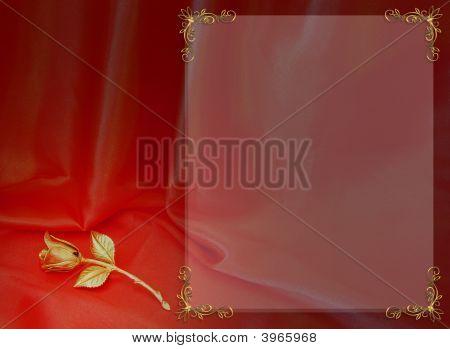 Invitación de boda elegante rojo