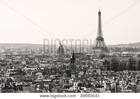 Paris city in Black and White