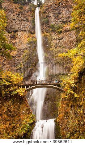 Multnomah Falls Waterfall Columbia River Gorge, Oregon Pacific Northwest