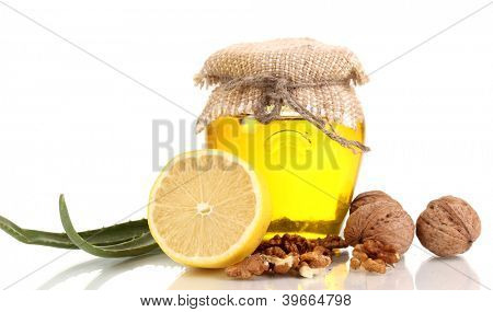 Healthy ingredients for strengthening immunity isolated on white